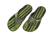 A Pair Of Green Slipper Royalty Free Stock Photos