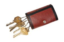 Free Leather Key Pouch Stock Photos - 18576953