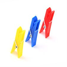 Free Colored Clothespins Royalty Free Stock Image - 18577056