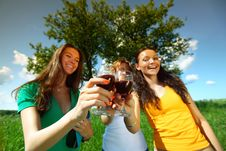 Free Girlfriends On Picnic Royalty Free Stock Photos - 18577168