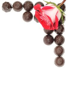 Free Rose And Chocolate Royalty Free Stock Photography - 18577197