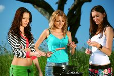 Free Girlfriends On Picnic Royalty Free Stock Image - 18577256