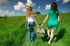 Free Girlfriends On Picnic Royalty Free Stock Image - 18577376