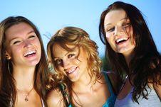 Free Happy Girlfriends Stock Image - 18577421