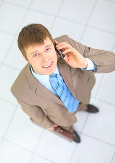 Free Young Businessman On The Phone Royalty Free Stock Photos - 18577588