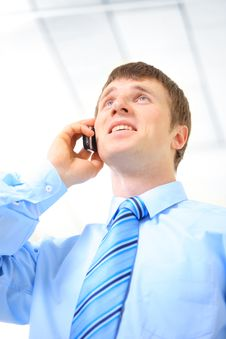 Free Businessman Making A Phone Royalty Free Stock Image - 18577706