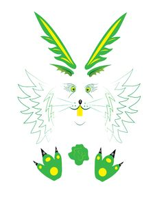 Free Green Hare. Royalty Free Stock Photography - 18577727