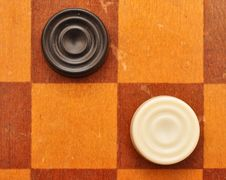 Free Checkers On Board Stock Image - 18578771