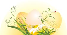 Free Easter Eggs With Chamomile And Grass Royalty Free Stock Image - 18578776