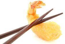 Free Chopsticks And Tempura Shrimp Stock Images - 18578924