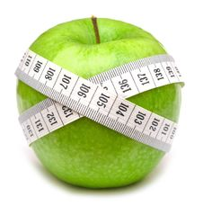 Free Green Apples Measured The Meter Royalty Free Stock Photos - 18579408