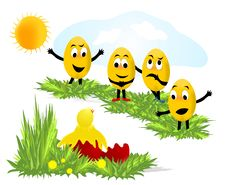 Free Emoticon Eggs, Cdr Vector Stock Photo - 18579580