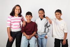 Free Four Happy Young Ethnic School Children Stock Photo - 18579990