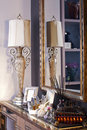 Free The Old-fashioned Lamp Stands On A Mirror Royalty Free Stock Images - 18580669