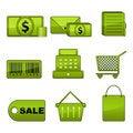 Free Shopping Icon Set Stock Image - 18582351