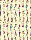 Free Seamless Beauty Woman Pattern Royalty Free Stock Image - 18588896