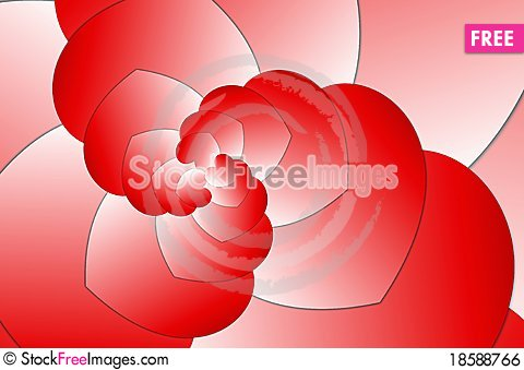 Free Hearts Fractal Swirl Design Royalty Free Stock Image - 18588766