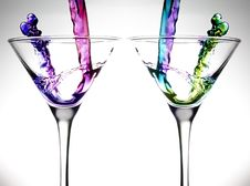 Free Color Water Drinks Royalty Free Stock Photography - 18580187