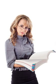 Free Young Woman Reading Book Royalty Free Stock Photos - 18580588