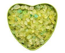 Free Heart With The Green Stones Stock Photo - 18580930
