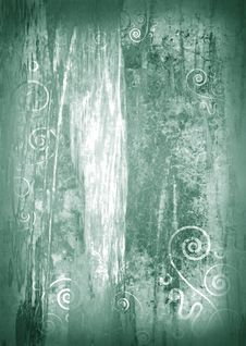 Floral Raster Grunge Background Royalty Free Stock Images