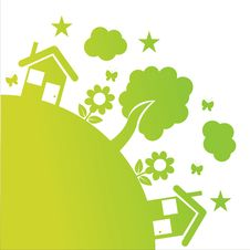 Free Green Ecological Illustration Royalty Free Stock Photography - 18581957