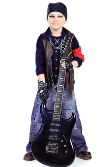 Young Guitarist Royalty Free Stock Images