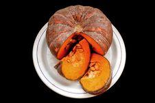 Free Pumpkin On Black Stock Photo - 18582240