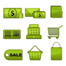 Free Shopping Icon Set Stock Image - 18582351