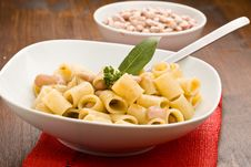 Pasta With Beans Royalty Free Stock Image