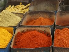 Free Colorful Indian Spices Royalty Free Stock Images - 18582869