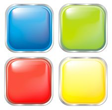 Free Color Buttons Royalty Free Stock Photo - 18582895
