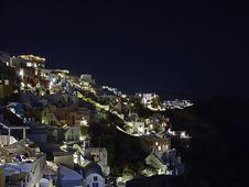 Free Greece Santorini Night Royalty Free Stock Photography - 18583197