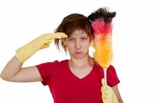 Free Woman With Duster Stock Images - 18583714