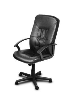 Image Of Black Leather Chair Over White Royalty Free Stock Images