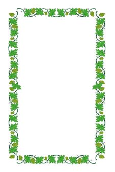 Free Floral Frame From Vine Royalty Free Stock Photos - 18583938