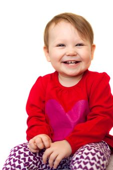 A Beautiful Smiling Baby Royalty Free Stock Photos