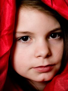 Free Little Lady In Red Royalty Free Stock Image - 18585316