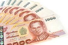 Free Thai Money Banknotes  Isolated Stock Photos - 18586053