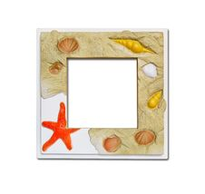 Free Frame Of Sea Shell And Stones Royalty Free Stock Photo - 18586355