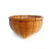 Free Vintage Brown Weave Wicker Basket Stock Image - 18586411