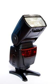 Camera Flash Speedlight Isolated Royalty Free Stock Photo