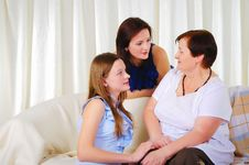 Free Three Generations Of Women Together Stock Photography - 18586572