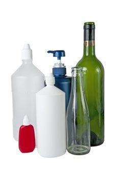 Free Bottles On White Royalty Free Stock Photos - 18586708