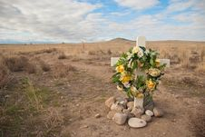 Free Roadside Rememberance Site Stock Images - 18586924
