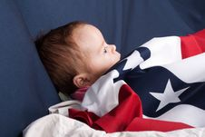 Free Independence Day Baby Stock Photography - 18587332