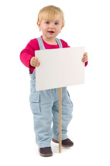 Child With Blank Table Royalty Free Stock Photography
