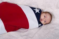 Free Baby IIn A Flag Royalty Free Stock Photos - 18587368