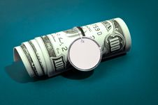 Thick Roll Of Dollars Royalty Free Stock Images