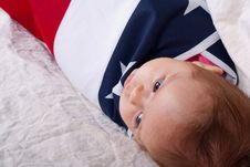 Free 4th Of July Baby In A Basket Royalty Free Stock Image - 18587416